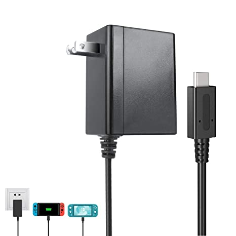 Switch Charger for Nintendo Switch and Lite Charger. Ac Power Supply Adapter Compatible with Classical Nintendo Switch and New Nintendo Switch Lite. ...
