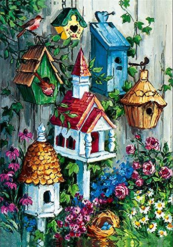 - Briarwood Lane Birdhouse Garden Spring House Flag Floral Birds 28