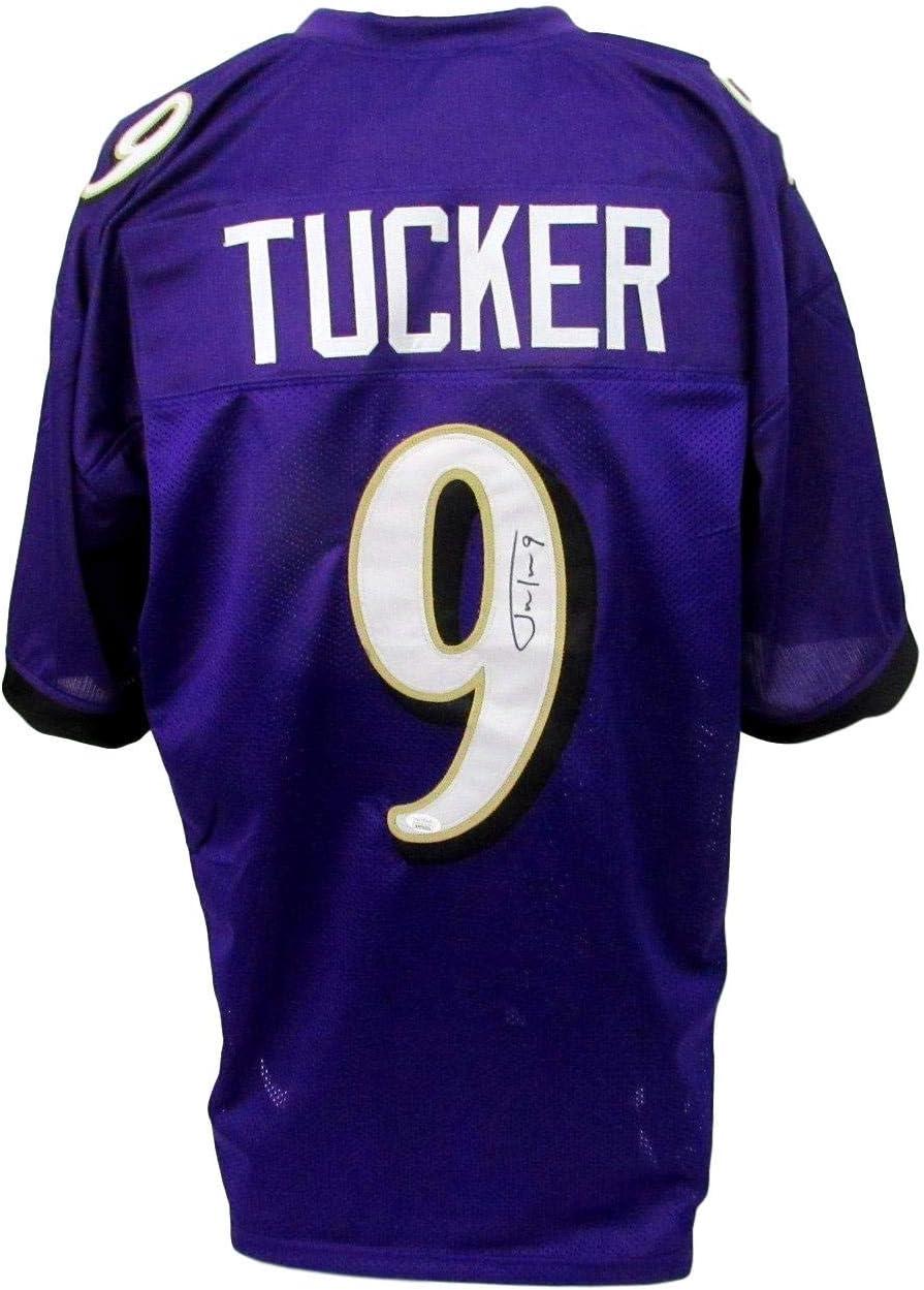 Justin Tucker Signed/Autographed Custom Ravens Purple Jersey JSA 147588