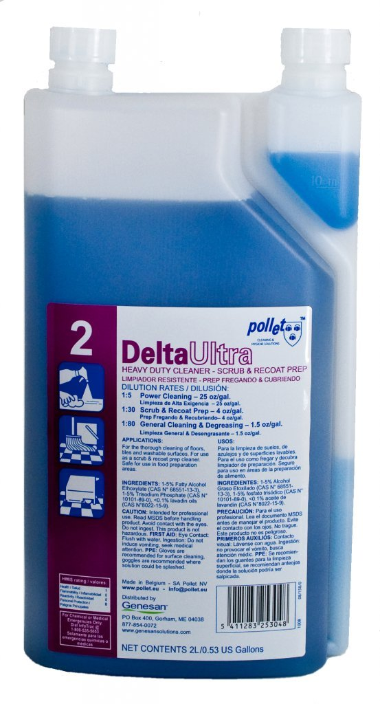 Delta Ultra Power Cleaner & Degreaser: 6/2L Bottles of Super Concentrated Cleaner & Degreaser