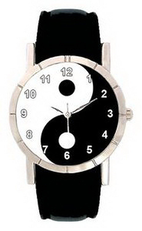 jwl0138 Ying Yang Symbolメンズレディース本革防水腕時計 B01N7I0U0G