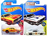 Hot Wheels - '69 Ford Torino Talladega & '69 Dodge Coronet Superbee Die Cast 1:64 HW Flames in CASES