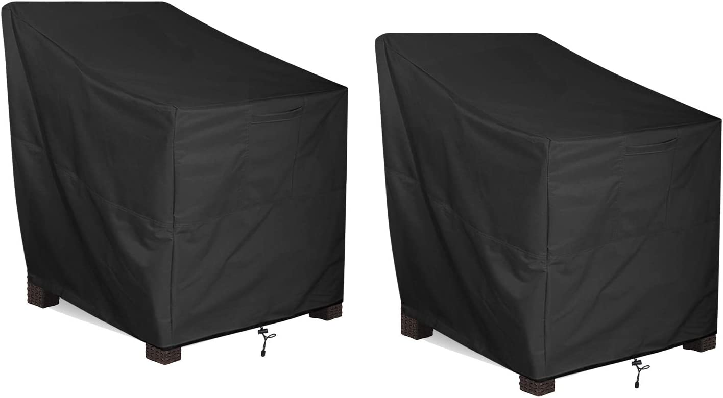 ALSTER Patio Chair Cover 2 Pieces, Outdoor Furniture Cover, Heavy Duty and Waterproof Outdoor Lawn Furniture Covers,40