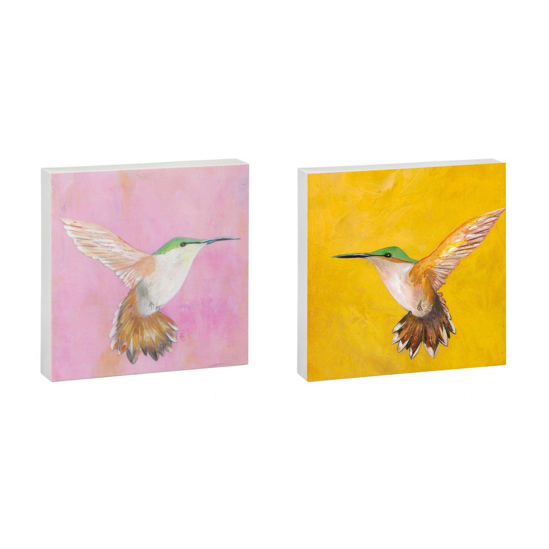Amazon.com: Sweet Hummingbird 12x12 Outdoor Flat Metal Wall Art, Set ...