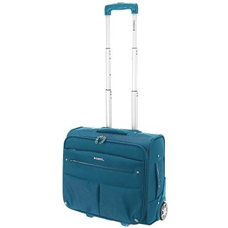 Maleta para ordenador Maletín portátil iPad equipaje de mano con ruedas (112 Azul)