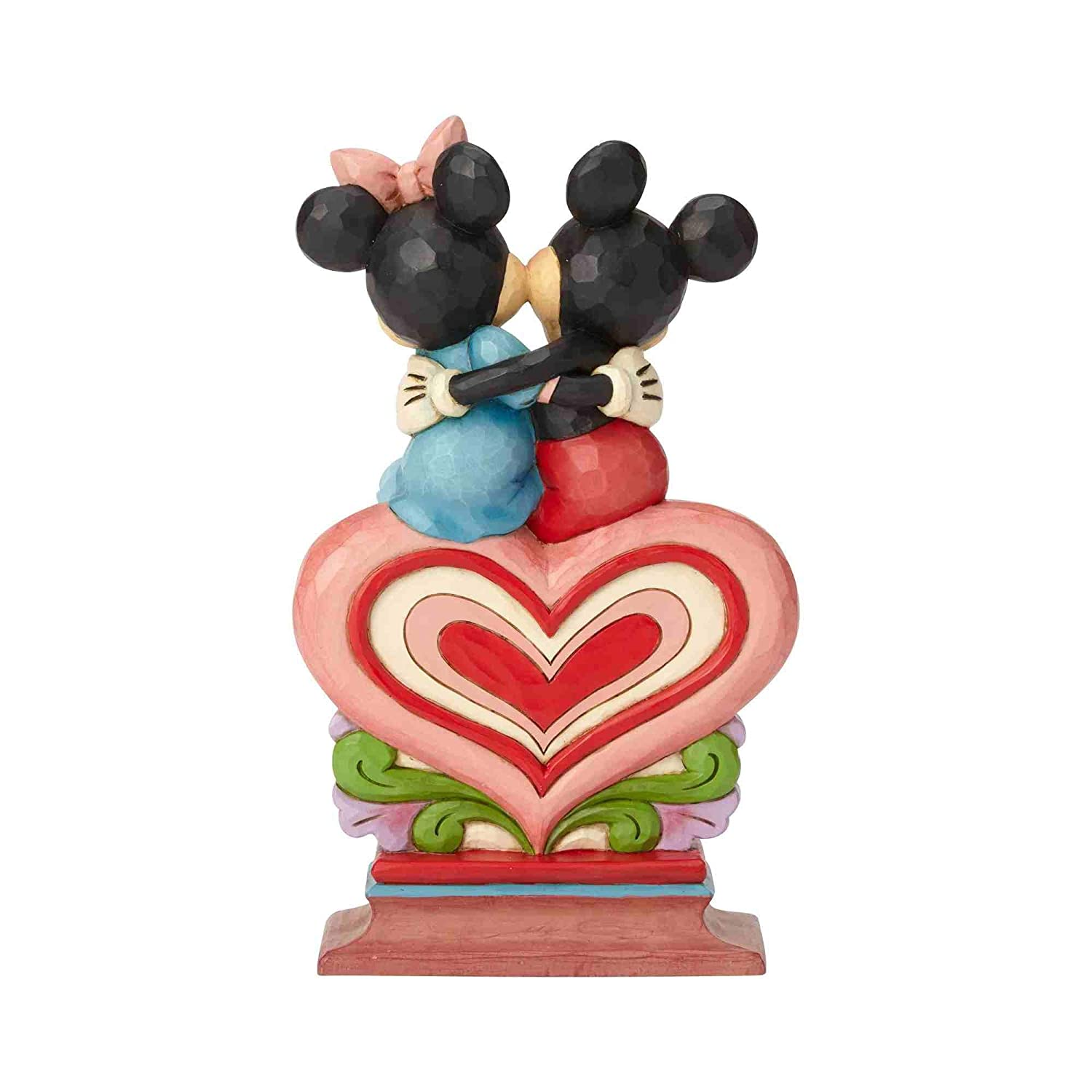 Enesco Disney Traditions Mickey Minnie Sitting on Heart