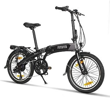 fitifito FD20 S de bicicleta plegable 20 pulgadas con Gratis batería de repuesto por valor de