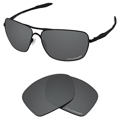 8a562e1ebc Tintart Performance Lenses Compatible with Oakley Plaintiff Squared  Polarized Etched-Carbon Black