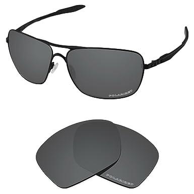 e1d27c1a5 Tintart Performance Lenses Compatible with Oakley Plaintiff Squared  Polarized Etched-Carbon Black