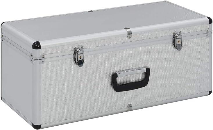 Tidyard- Caja de Almacenamiento 2 Cajas de Almacenamiento de Madera y Chapa de ABS y Aluminio: Amazon.es: Hogar