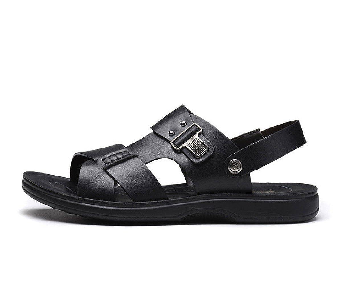 LEDLFIE Strand Herren Sandalen Sommer Strand LEDLFIE Schuhe Casual Hausschuhe schwarz f806e6