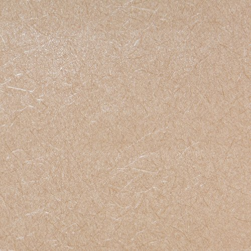 Textured Art Wallpaper (Crinkles Brown Textured Wallpaper for Walls - Double Roll - By Romosa Wallcoverings LL7573)