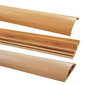 Netproshop Fussboden Kabelkanal Pvc Halbrund Selbstklebend 70x17mm