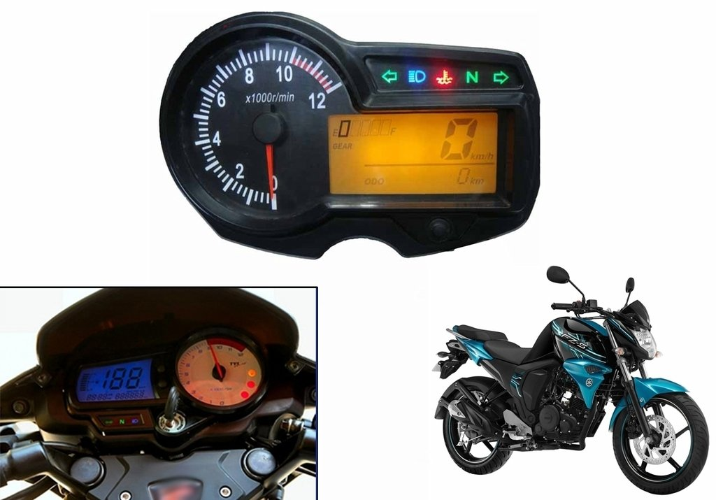 Speedwav OEM Bike Digital Speedometer Assembly for Yamaha FZ