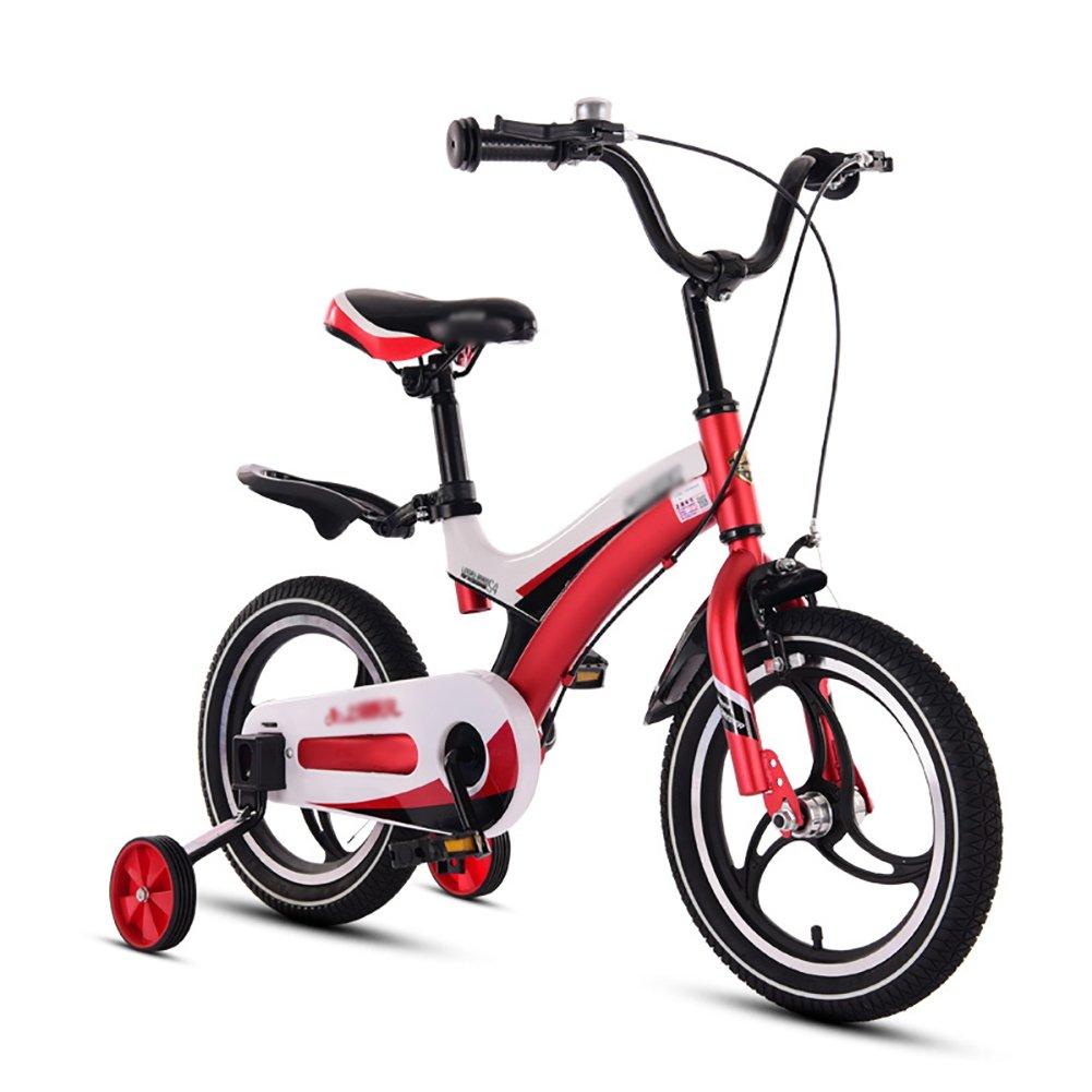 赤ちゃん少年少女自転車赤ちゃん自転車赤ちゃん自転車3歳から10歳12 14 16 18インチ青黄色赤ピンク B07DVVNKHT 14 inch|赤 赤 14 inch