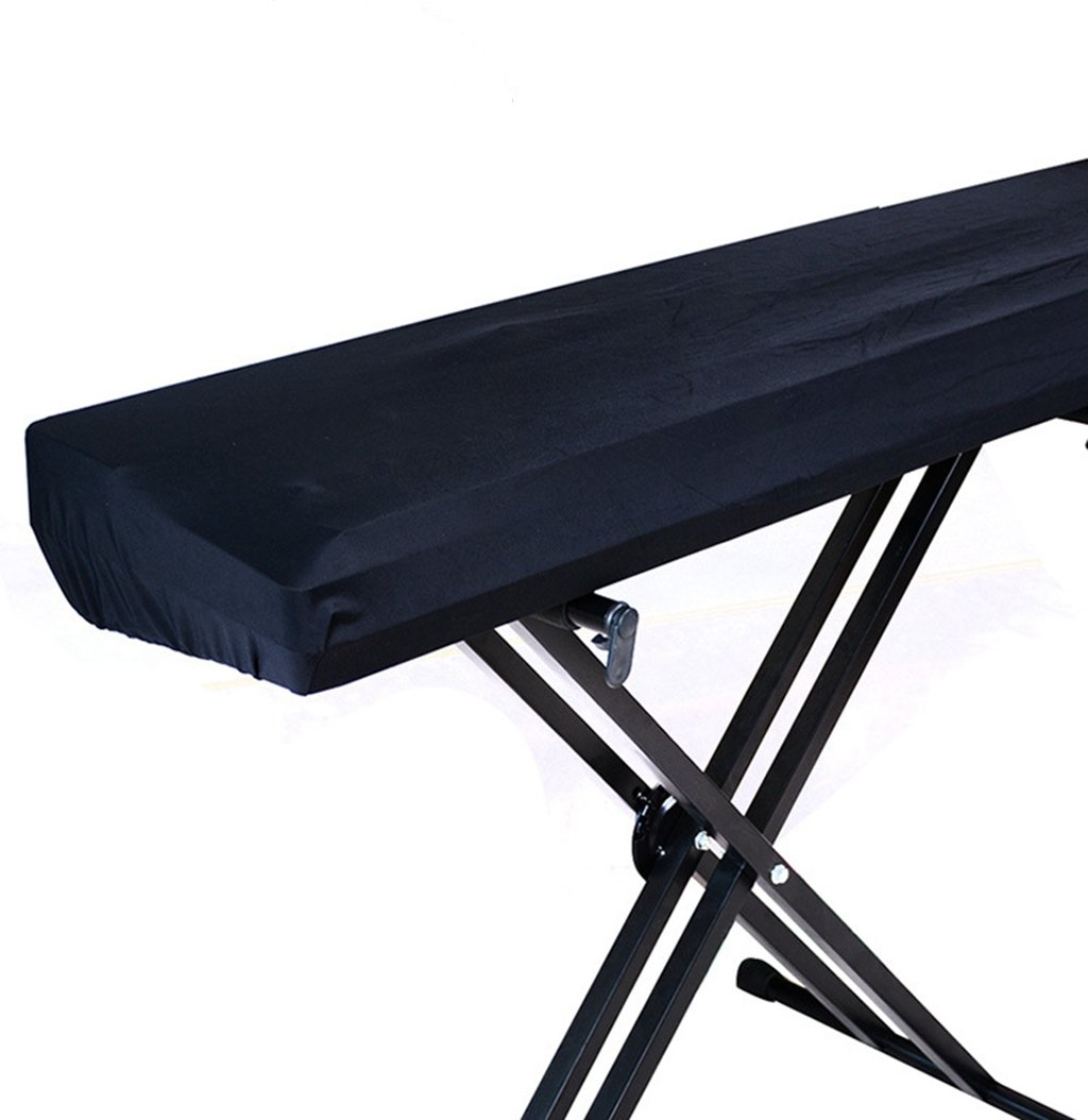 LIGICKY Stretchable 88key Digital Piano Keyboard Dust Cover, Black H010PKC88