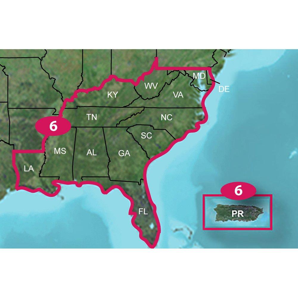 Amazoncom Garmin TOPO US K Southeast MicroSDSD Sports - South east us map