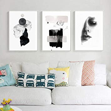 Dama de la moda abstracta pintura lienzo mujeres impresión ...