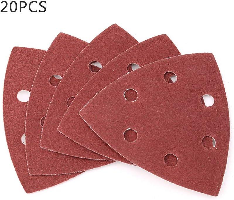Mayoaoa herramientas de lijado 20 unidades de papel de lija triangular 90 mm 240 60 pulido autoadhesivo grano 40