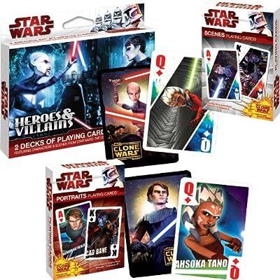 Trademark Stars Wars/Clone Wars Heroes and Villians Poker Playing Card (Multi)