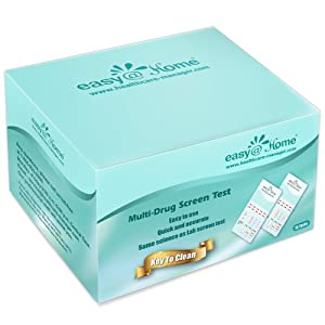 15 Pack Easy@Home 5 Panel Instant Drug Test Kits - Testing Marijuana (THC), COC, OPI 2000, AMP, MET/mAMP- Urine Dip Drug Testing -#EDOAP-254