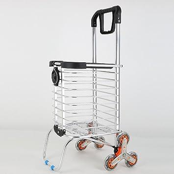 Sallypan - Carrito de la compra con ruedas para personas mayores, escaleras plegables, carrito de la compra para la lavandería, la comida y el mercado 2: ...