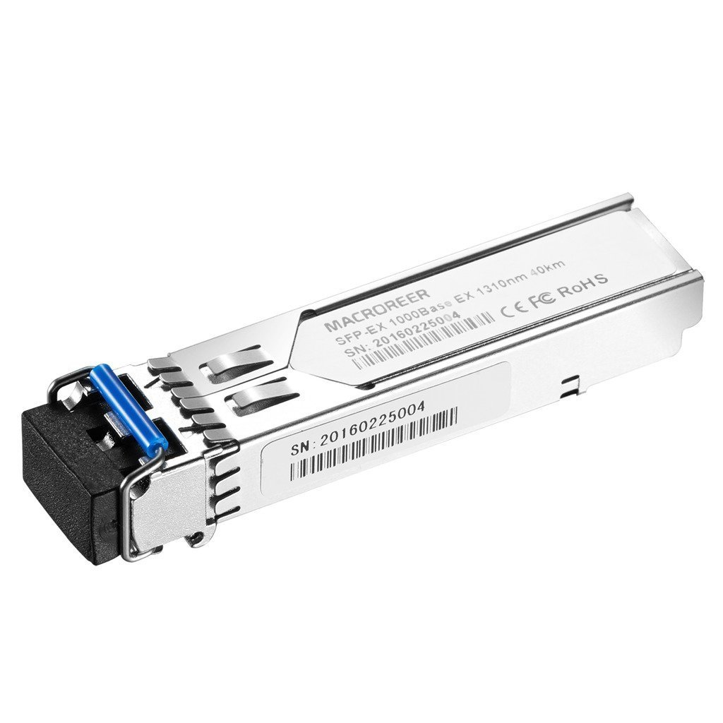 Macroreer for Cisco GLC-EX-SMD 1310nm 40km dual LC/PC connector with DOM Support SFP 1000BASE-EX Module by Macroreer