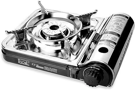 amara-global Hornillo de gas portátil de acero inoxidable turbo RS-7000DFS.