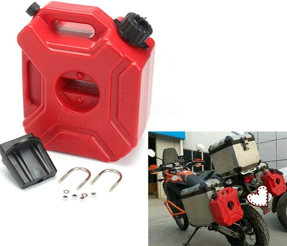 Fuel Oil Gasolina Almacenamiento Diesel Tanque de Gas con Soporte y Tubo de Aceite para Motocicleta Coche UTV ATV Remolque de Barco Bid/ón de pl/ástico port/átil de 3L Dep/ósito de Combustible