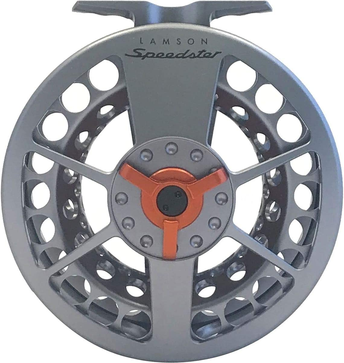 Waterworks-Lamson Speedster Fly Fishing Reel, Grey Orange