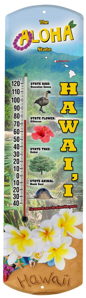 Heritage America by MORCO 375HI Hawaii Outdoor or Indoor Thermometer, 20-Inch