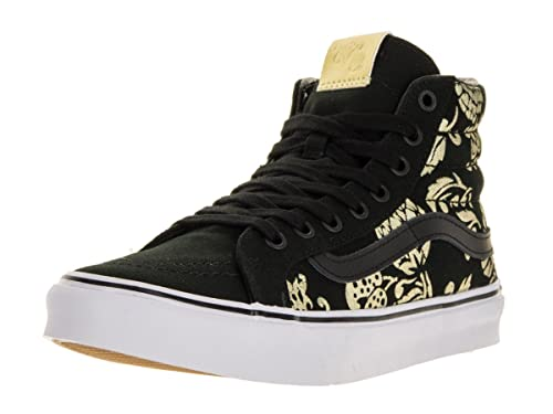 Vans Unisex Shoes SK8-Hi Slim Classic (50TH) Anniversary Black With Gold  Sneakers 610208b13c