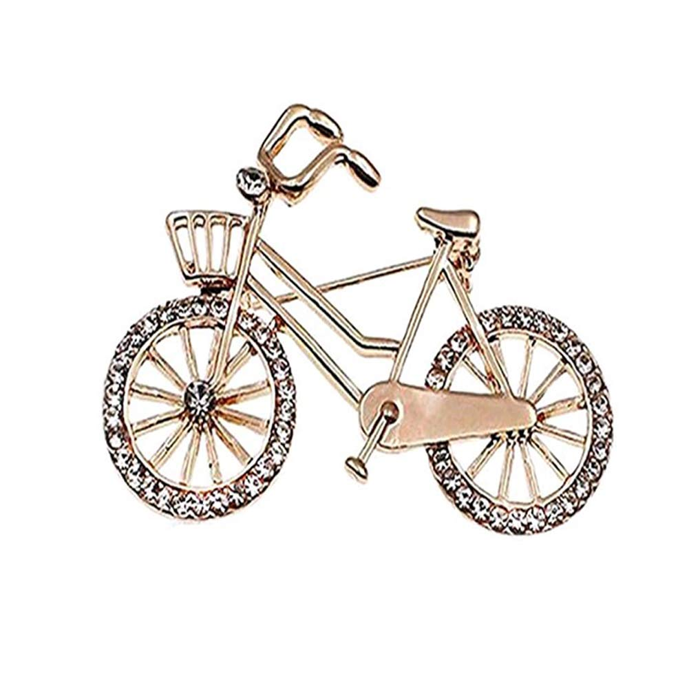 Demarkt High-end Fashion Brooch Pin Brooch for Elegant Women Dress Accessories (Bicycle Gold)