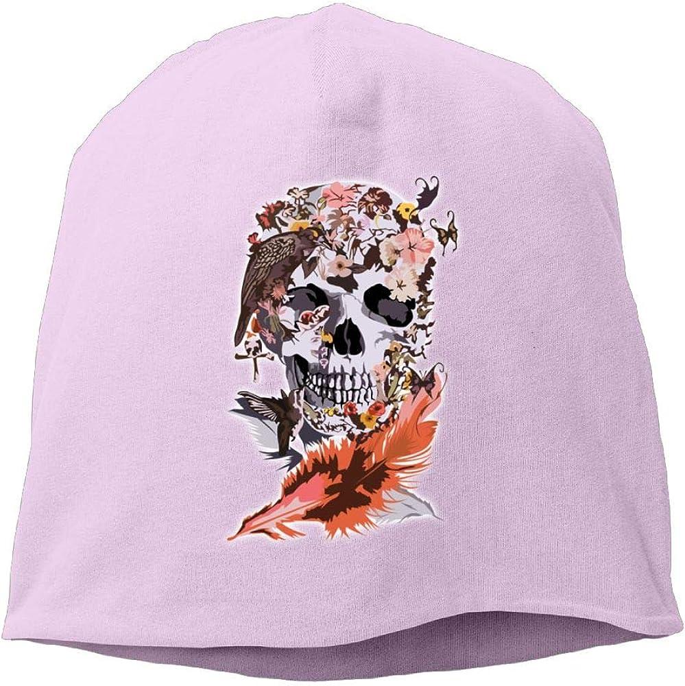 Butterfly and Sugar Skull Beanie Cap Ski Caps Mens Birds