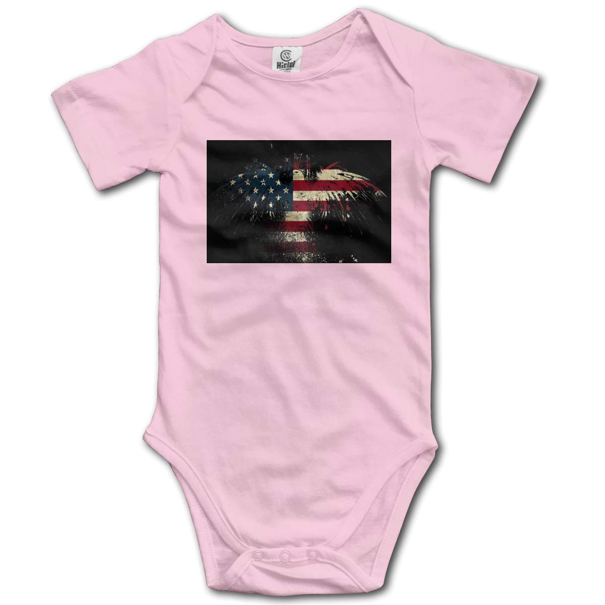 Baby Short-Sleeve Onesies Eagle American Flag Bodysuit Baby Outfits