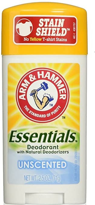 Image result for Arm & Hammer Essentials Natural Deodorant Solid, Unscented