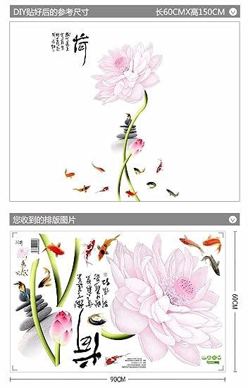 Gyuhanlt Lotus Flower Chinesischen Hintergrund Wandschmuck Wand