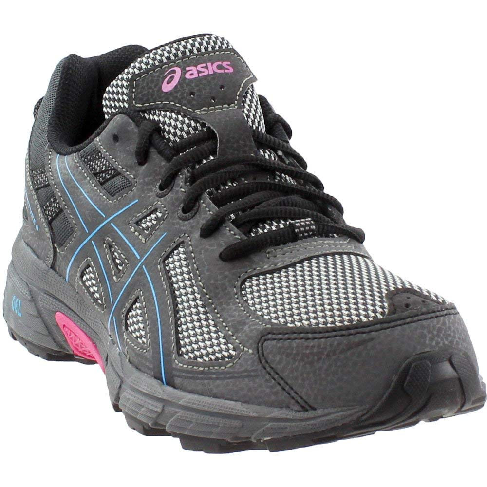 ASICS Womens Gel-Venture 6 Black/Island Blue/Pink 5 B US