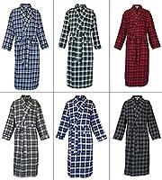 Robes King Classical Sleepwear Men's 100% Cotton Flannel Shawl Collar Robe,