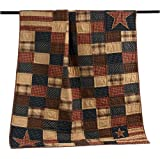 VHC Brands 7741 Patriotic Patch Throw 60x50