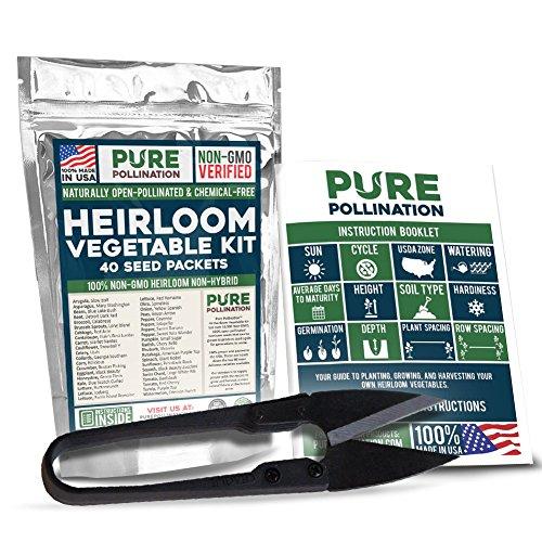 16,500 Non GMO Heirloom Vegetable Seeds Survival Garden 40 Variety Pack