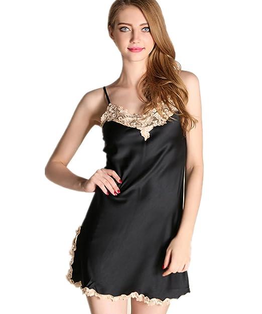 63a0fcca23ab Kenmont Mujer Pijama Ropa Interior Camisón Combinación Bodies ...
