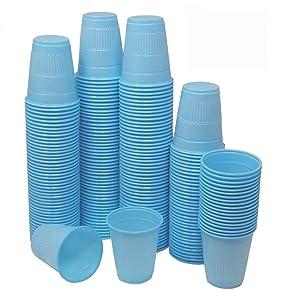 [TashiBox] 5 oz Disposable Plastic Cups - 200Count - Sky Blue