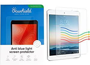 Ocushield Anti Blue Light, Tempered Glass Screen Protector for Apple iPad Mini 1/2/3 -Protect Your Eyes for Better Sleep