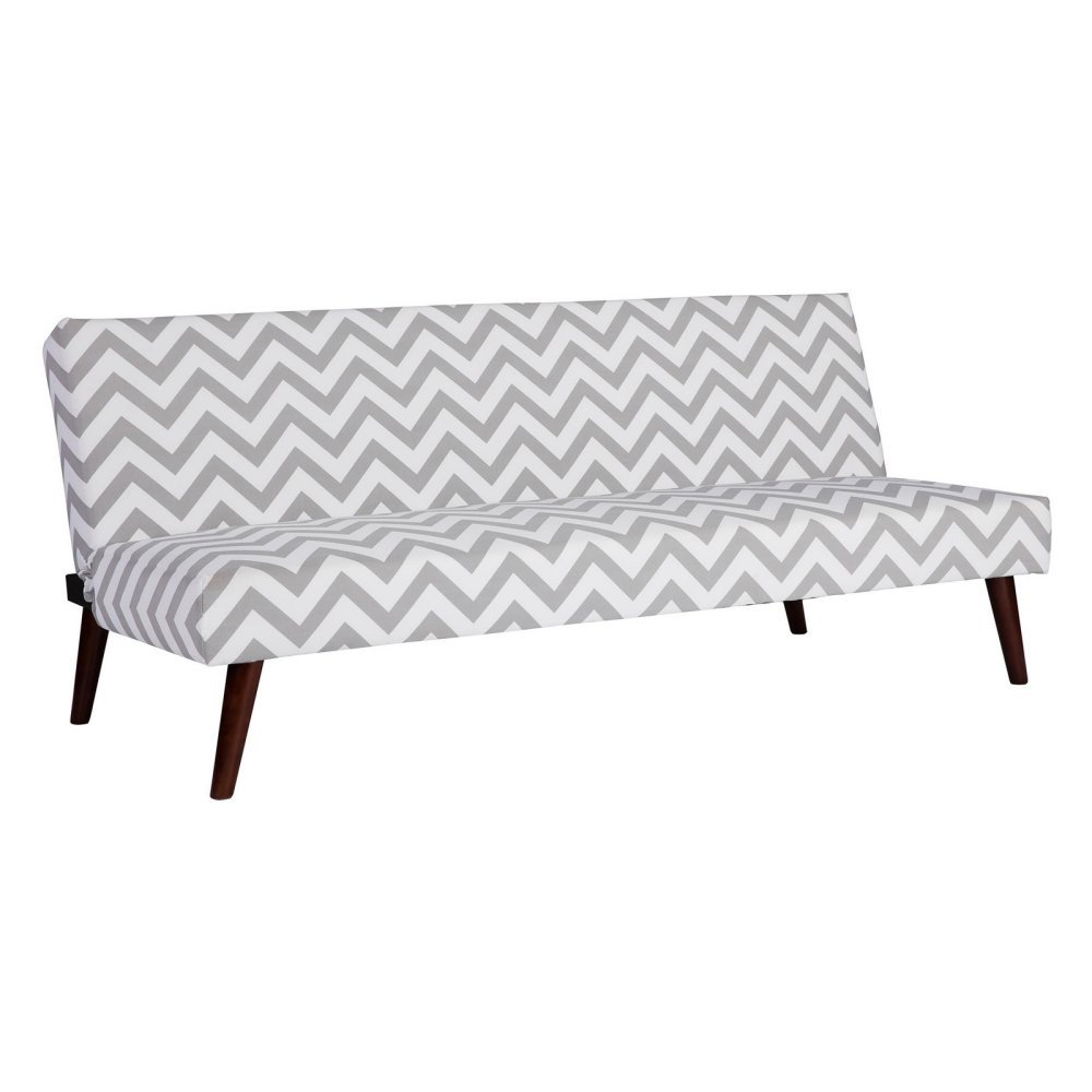 Kinsley Futon in Gray and White by DHP