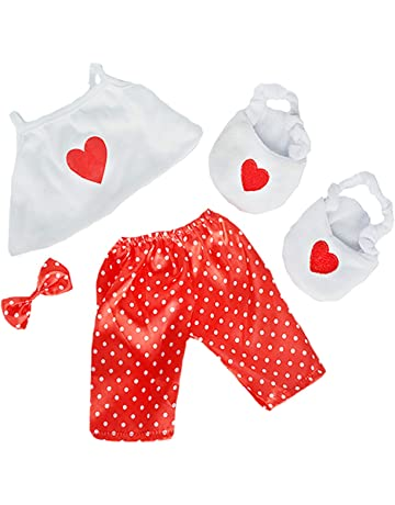 959e808a79 Satin Heart Pj s with Heart Slippers Teddy Bear Clothes Fits Most 14