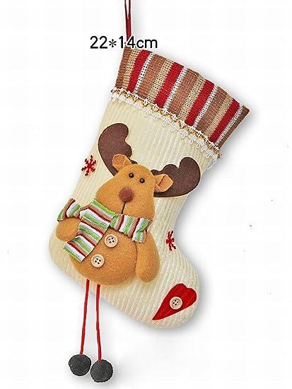 Calcetines de Navidad Decoración de la Ventana Colgante Pequeños Calcetines de Regalo de Navidad Decoración de