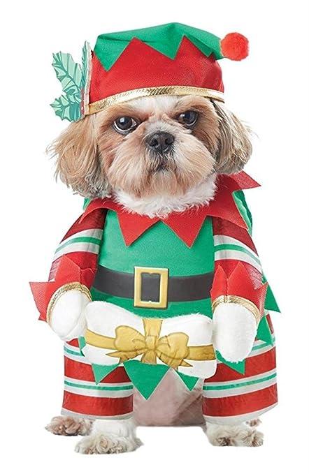 petbobo pet dog cat christmas costumes suit with cap santa suit clothes costumes xl