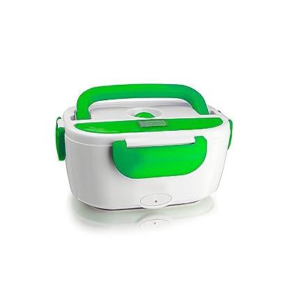 Hornillo eléctrico 2 compartimentos calentador Almuerzo portátil con mango térmico Fair Shoponline