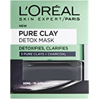L'Oreal Paris 3 Pure Clays and Charcoal Detox Mask, 50 ml